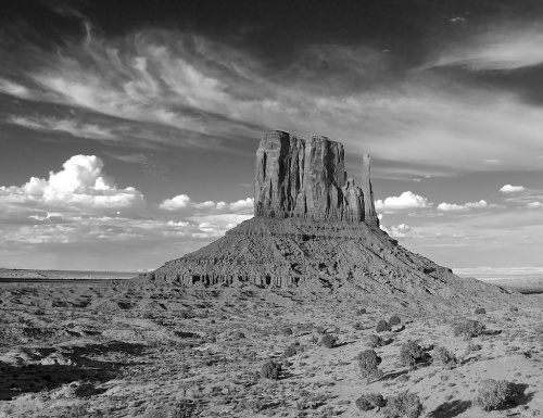 "By the way, someone said to me, ""You were at Monument Valley at sunset. That's all about color! Why would you render them in black and white?""  Anyone want to answer that?"