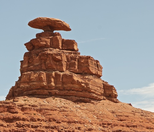 The rock for which Mexican Hat, Utah is named.