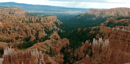The view right outside our cabin at Bryce Canyon Lodge. Tomorrow we explore!