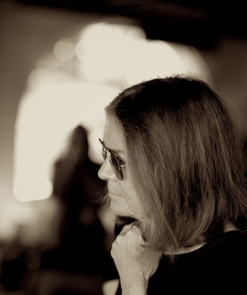 "Regular readers will recall my post about ""the fourth light."" I may use one or two or three flashes in my portrait work, but it's the light radiating from the subject that makes the picture. Ms. Steinem absolutely glows with passion, empathy, and intellect. Quite fun to be near, frankly."