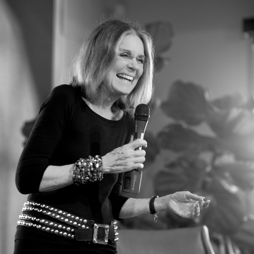 Ms. Gloria Steinem, speaking at the Orfalea Foundation Downtown Center on February 13, 2014