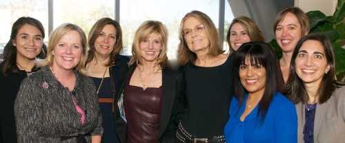 Here is Ms. Steinem with several of my coworkers, celebrating the conclusion of a very uplifting event.