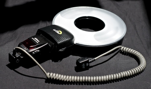 The Orbis ring light adapter swallows an SB800 flash and spits out soft, even light.