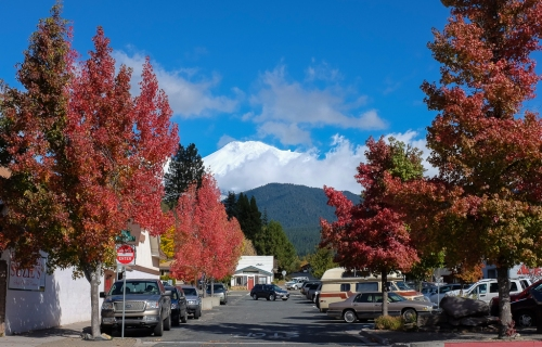 ...and here's Mt. Shasta itself. Fujifilm X100s