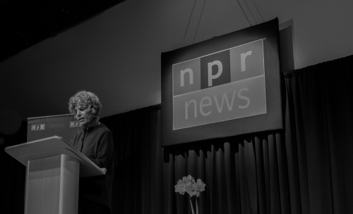 I attended an event with Susan Stamberg, founding mother of NPR. She might not like this photo, but I do.
