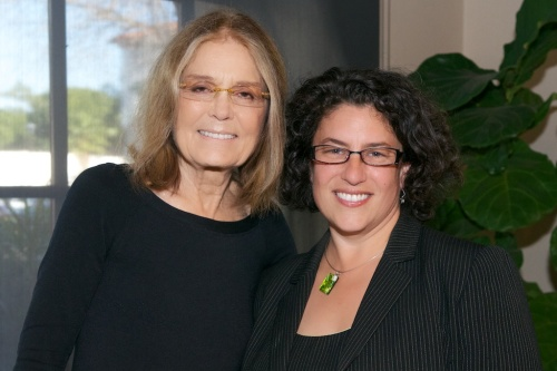 The retouching in this photo of Gloria Steinem and Santa Barbara Mayor Helene Schneider is more heavy-handed than the technique I use now. Unfortunately, I cannot yet show you the technique I'm using now, because it's all work-for-hire and not mine to share.